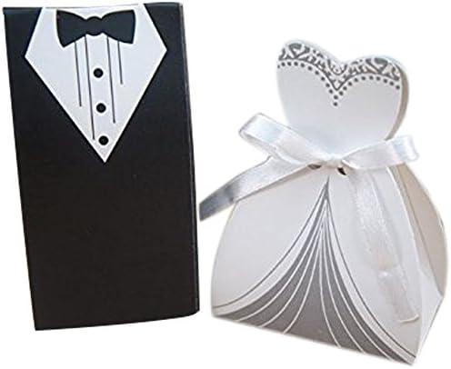Cajas para confeti para bodas, diseño de vestidos de novios (50 unidades): Amazon.es: Hogar