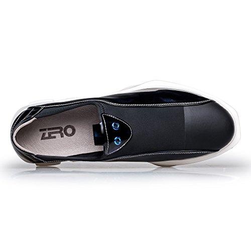 Zro Herenmode Sneakers Casual Slip Op Schoenen Ademend Blauw