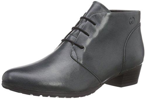 GERRY WEBER Caren 02 - botas de caño bajo de cuero mujer gris - Grau (titan 152)