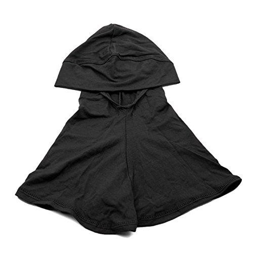 1Pc Black- Cotton Islamic Turban Head Wear Neck Chest Cover Bonnet Hijab Hat Scarf for Women