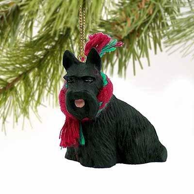 Scottish Terrier Miniature Dog Ornament (Terrier Dog Miniature)