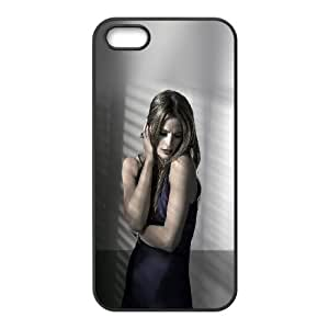 Durable Hard cover Customized TPU case Celebrities Stana Katic Posing iPhone 4 4s Cell Phone Case Black
