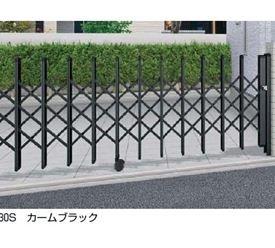 YKKAP 伸縮ゲート レイオス1型(太桟) 片開き 62S H12 PGA-1  ブラウン B00ALSE098