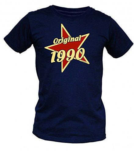 Birthday Shirt - Original 1990 - Lustiges T-Shirt als Geschenk zum Geburtstag - Blau