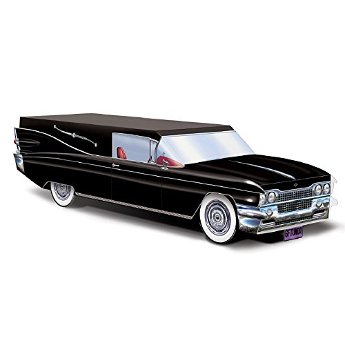 Hearse Halloween Decoration (Party Central Club Pack of 12 Black Hearse Halloween Centerpiece Decorations)