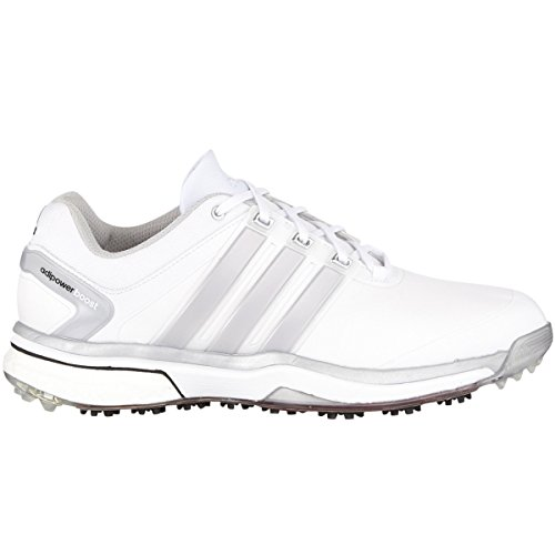 Adidas Golf Men's Adipower Boost Shoes - Wide - US 10 - White/Silver Metallic