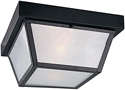 10 37 In W Black Outdoor Flush Mount Light Close To Ceiling Light Fixtures Amazon Com