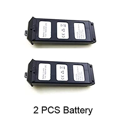7.4V 1800mAH 25C Battery for MJX Bugs 5W B5W Contixo F20 GPS Brushless RC Quadcopter Drone B5W Original Battery (2 Pack) from YOYL