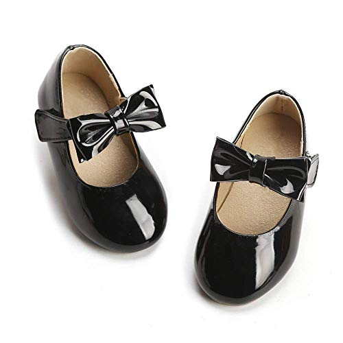 (Itomoto Girl's for Ballet Flats Mary Jane Party School Dress Shoes(Toddler/Little Kids) Black 10)