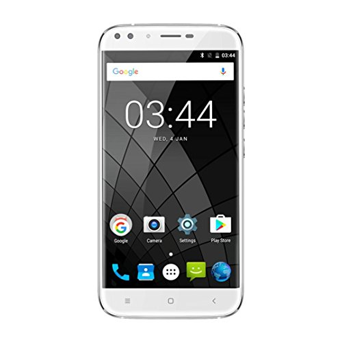 Unpara 5.5 Inch 2GRAM+16GROM Ultrathin 3G Network Smartphone HD(1280x720) Android 7.0 Quad-core Dual Rear 13MP+2MP Camera Unlocked Bluetooth WiFi Smartphone (White) ()