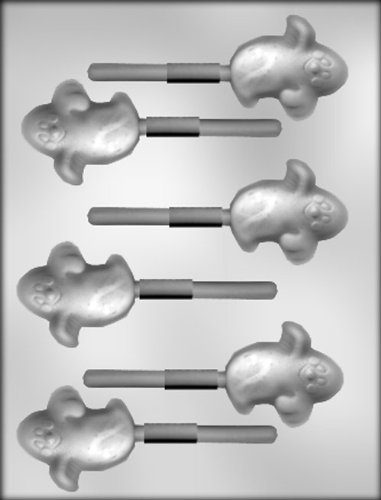 Ghost Sucker Candy Mold - CK Products 2-1/4-Inch Ghost Sucker Chocolate