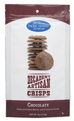 (The Famous Pacific Dessert Company Decadent Artisan Crisps, Chocolate, 5 Ounce)