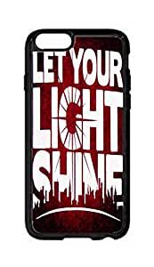 """RainbowSky iPhone 6 Plus (5.5"""" Inch) Case - Let Your Light Shine Hard Plastic Back Protection Phone Case Cover -1920"""