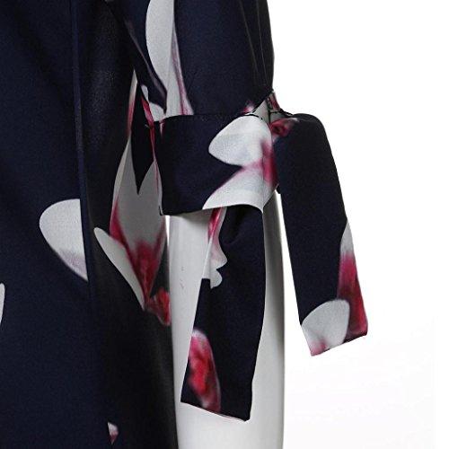 ❤ 50er Vintage Retro Kleid ❤ Damen Party Club Kleider Blumen ...