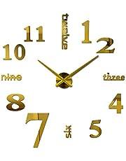 ساعة حائط لاصقة ثلاثية الأبعاد