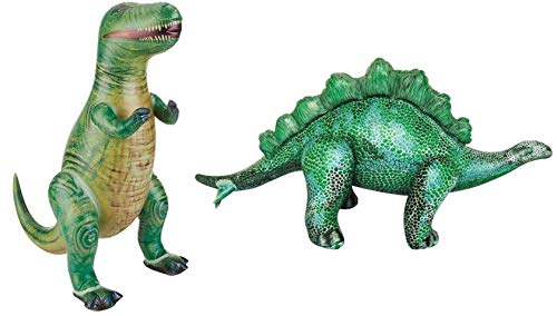 Jet Creations Inflatable Dinosaur 2 Pack - T-Rex and Stegosaurus