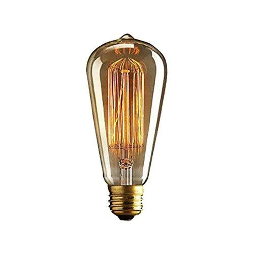 Vintage Edison Light Bulb, Jeffrien Long-Life Retro ST64 E26 40W 220V Bulb Lighting Lamps for Retro, Rustic, Industrial Lighting - Fits Table Lamp Pendant Ceiling Wall Light Spotlight