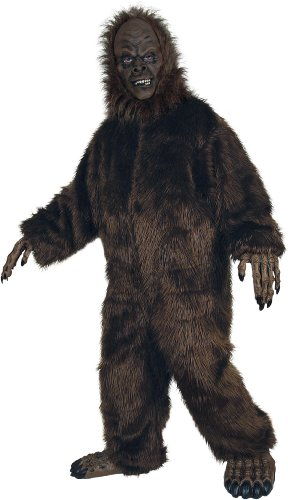 Seasons Hk Mens Deluxe Big Foot Adult Costume Brown Standard