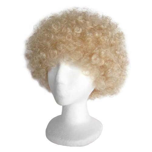 SeasonsTrading Economy Blonde Afro Wig ~ Halloween Costume Party Wig (STC13033) (Curly Blonde Costume Wig)