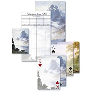 King's River Canyon and Mountain Out of the Mist - Bridge Playing Cards Gift Set
