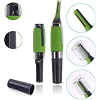 Prime-Zone Cordless Touches Nose Trimmer All In One Personal Trimmer,Hair Trimmer Cordless Great For Travel, Nose Hair Trimmer With Built In Led Light Nose Trimmer For Mens (Green)