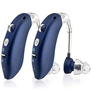 Hearing Aid, Enjoyee Hearing Aids for Seniors Rechargeable Hearing Amplifier with Noise Cancelling for Adults Hearing…