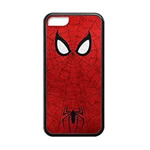Black, 5C Case - Spider Man Super Hero Photo Design Durable Rubber Tpu Silicone Case Cover For Apple iPhone 5C