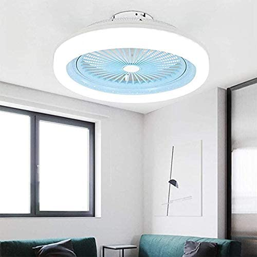 Bbrr Ceiling Fan With Lighting 3 Adjustable Wind Speed Dimmable With Remote Control Ceiling Lamp With Fan Incl For Bedroom Living Room Dining White Energy Class A Blue