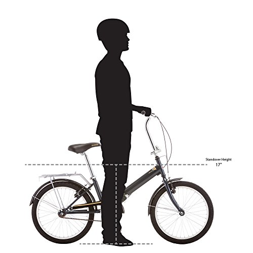Schwinn 14 Hinge Folding Bike, 20-Inch/Medium, Grey by Schwinn (Image #5)