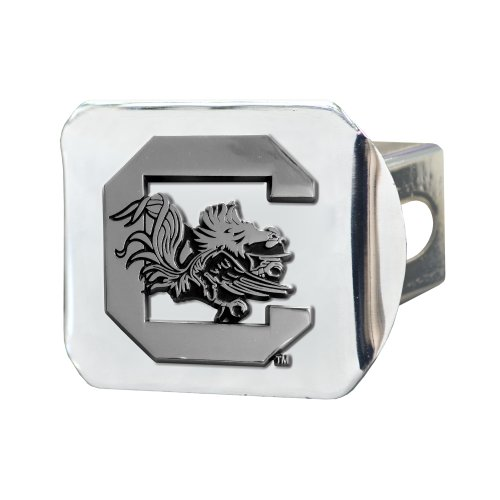 FANMATS NCAA University of South Carolina Gamecocks Chrome Hitch Cover by Fanmats