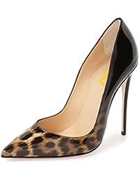 02f0b19c502b FSJ Sexy Leopard Printed Dress Shoes Pointy Toe High Heels Stilettos Pumps  for Women Size 4-15 US