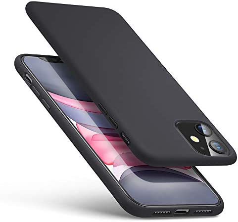 ESR Yippee Soft Case for iPhone 11 Back Cover Liquid Silicone Rubber Case Cover [Comfortable Grip] [Screen & Camera Protection] [Velvety-Soft Lining] [Shock-Absorbing] for iPhone 11 6.1-Inch, Black