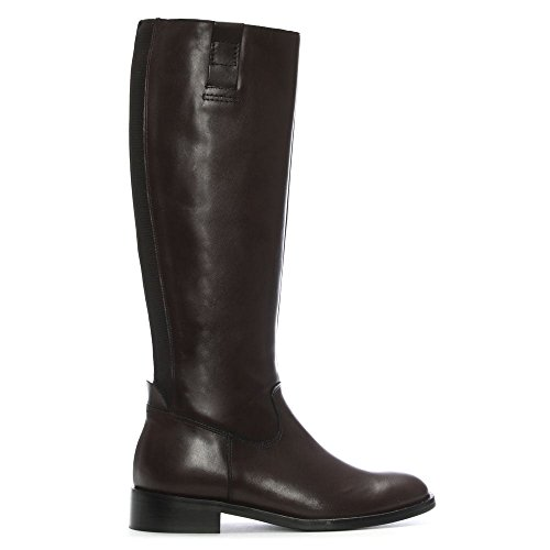 Daniel Pintano Brown Leather Elasticated Knee Boots Brown Leather