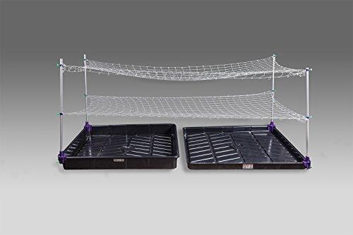Trim-Daddy Trellis netting support rack (model B) 4 round corner tray 4 hydroponic plant leaf bud herb & flower by Trim-Daddy
