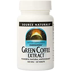 Source Naturals Green Coffee Extract, Energizing Powerful Natural Antioxidant, 30 Tabs