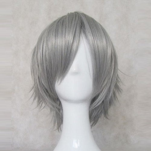 BLEACH Ichimaru Gin Sliver Grey Short Cosplay Party Hair Wig