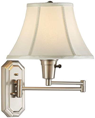 Traditional Swing arm Pin up Lamp, IVORY, BRUSHED (19 Inch Swing Arm Lamp)