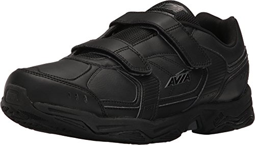 Avia Avi-Tangent Strap Mens Walking Shoes (11 4E (X-Wide), Black/Iron - Walking Shoes Mens Velcro