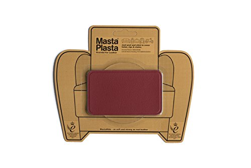 MastaPlasta Self-Adhesive Patch for Leather and Vinyl Repair, Medium, Red - 4 x 2.4 Inch - Multiple Colors Available