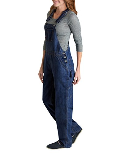 Dickies Womens Denim Bib Overall 100% Cotton Denim with ScuffGard