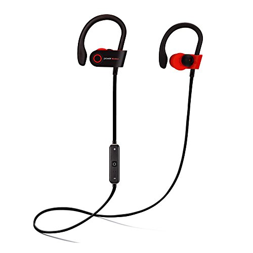 Best Wireless Sports Earphones with Mic, IPX7 Waterproof, HD Sound with Bass, Noise Cancelling, Secure Fit, up to 9 hours working time (2019 Edition)