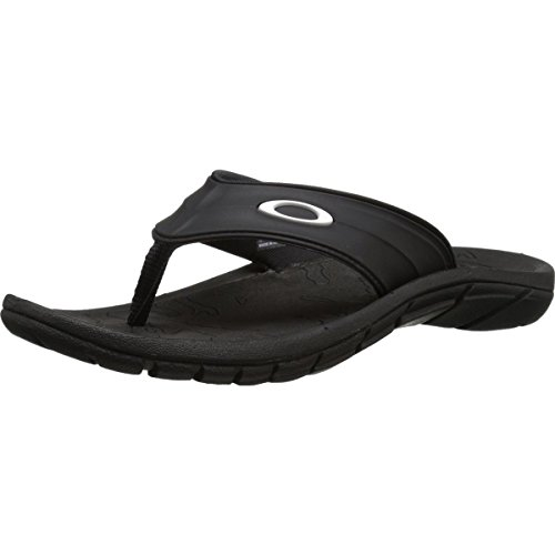 Oakley Men's Supercoil 4.1 Sandal, Black, 8 M - Flip Men Oakley Flops For
