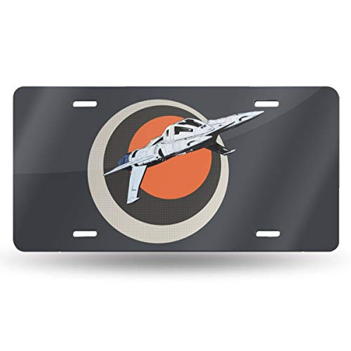 (Oppo-ww Earth Force Star-Fighter Retro License Plates for Car Decoration 6 Inch X 12 Inch)