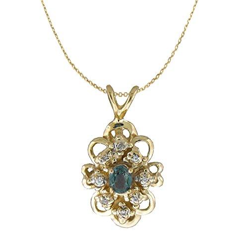 Natural alexandrite diamonds pendant in 14 k yellow gold what natural alexandrite diamonds pendant in 14 k yellow gold by designed by ellen aloadofball Images