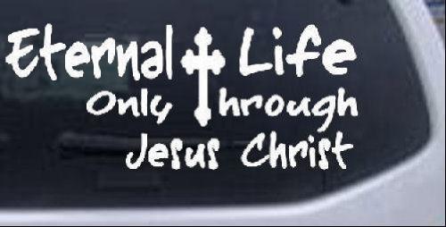 Eternal Christ Christian Window Sticker