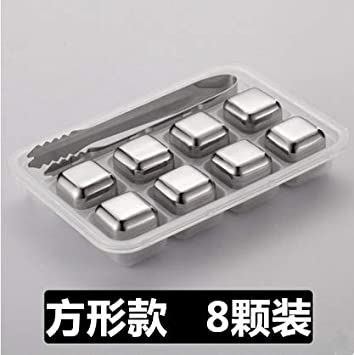 Compra LLY Cubo Reutilizable 304 Cubos de Hielo de Acero ...