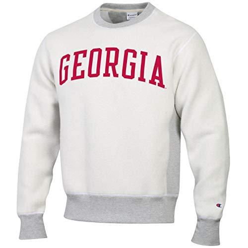 Champion Men's NCAA Inside Out Reverse Weave Crew Sweatshirt-Georgia Bulldogs-XL - Georgia Bulldogs Hoodie Sweatshirt