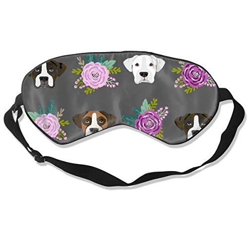 Sleeping Eye Mask for Woman Girls Kids 99% Blackout Eye Mask Boxer Dogs and Flower with Elastic Band Skin Friendly & Not Allergic for Bedtime Sleep, Deep Rest]()