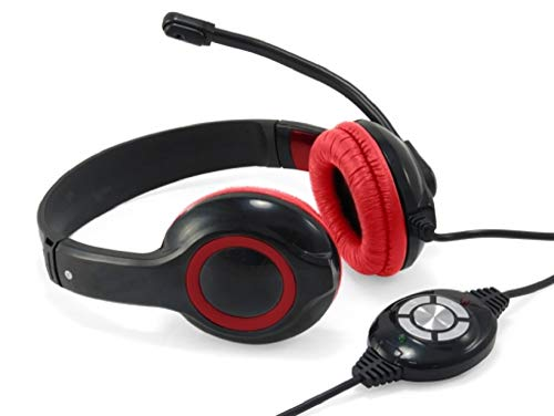 🥇 Conceptronic CCHATSTARU2R Binaural Diadema Rojo – Auriculares con micrófono