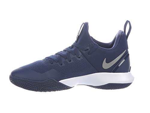 Nike Mens Zoom Shift Nylon Basketskor Midnatt Marin / Vit